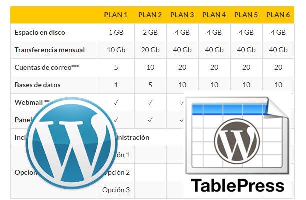 Crear Tablas en WordPress con TablePress