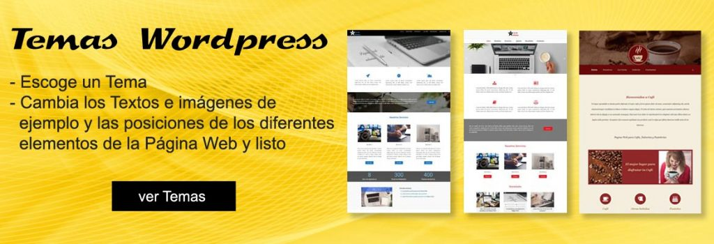 Temas wordpress para Páginas Web