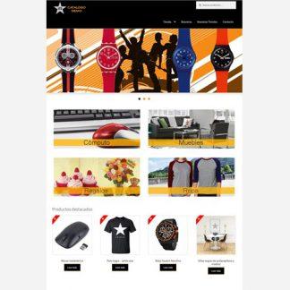 catalogo de productos administrable con opción de pedir presupuesto por producto