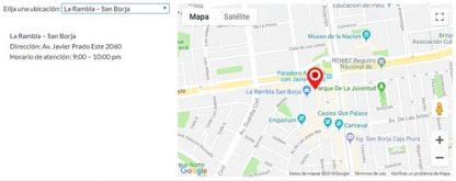 mapa google maps con varios marcadores para paginas web