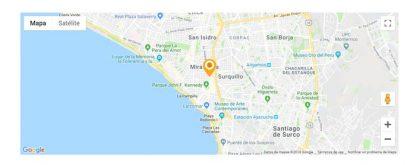 mapa google maps con marcador animado para paginas web