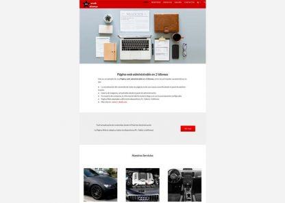 Página web multilenguaje administrable