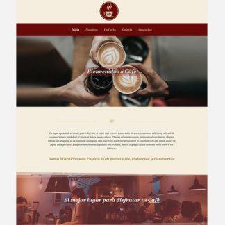 Tema Wordpress para Cafés, Cafeterías, comida y bebida