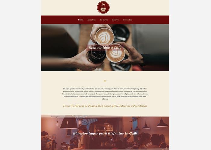 Tema WordPress para Cafés, Cafeterías, comida y bebida – Catálogo ...