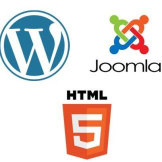 soporte para Páginas Web en Wordpress, Joomla y Html5