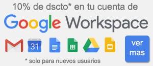 descuento Google Workspace
