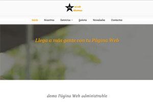 ejemplo Pagina web administrable
