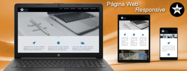 pagina web administrable responsive
