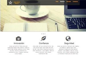 Página Web estilo One Page (una sola página)