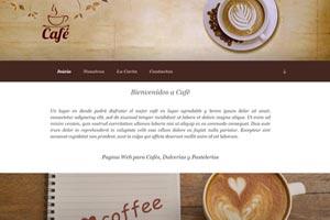 Página Web para Cafeterías, cafés, comida y bebida