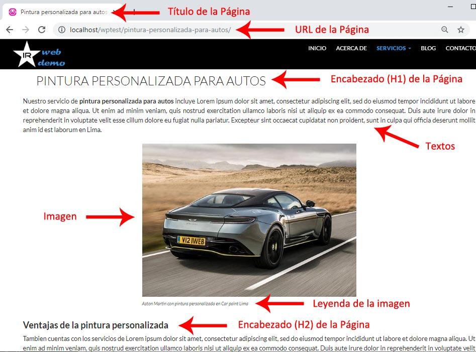 SEO optimización de Página Web para motores de busqueda